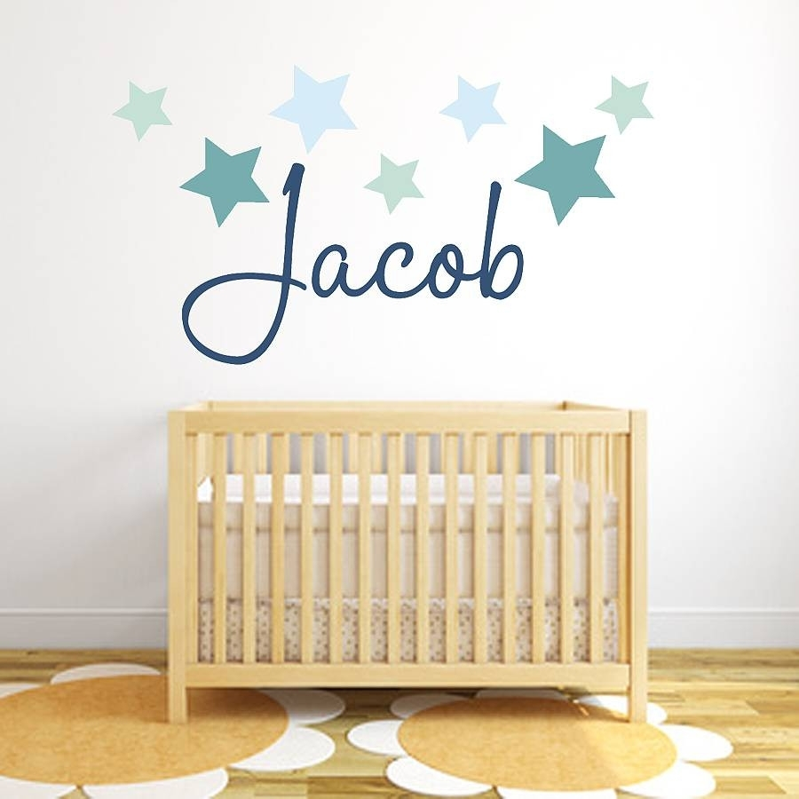 Kids Name Wall Stickers   Decorating Ideas In Name Wall Art (Photo 19 of 20)