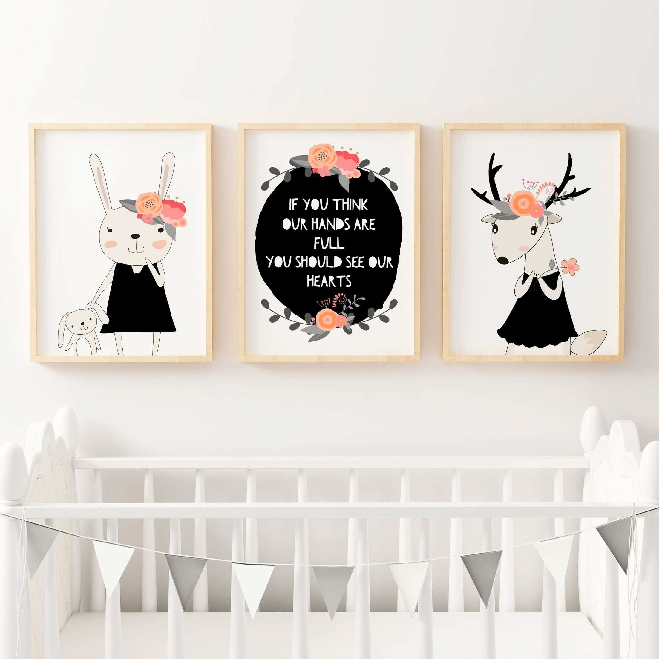 Kids Wall Art Prints Awesome Now Woodland Nursery Wall Decor Baby Pertaining To Woodland Nursery Wall Art (Photo 15 of 20)