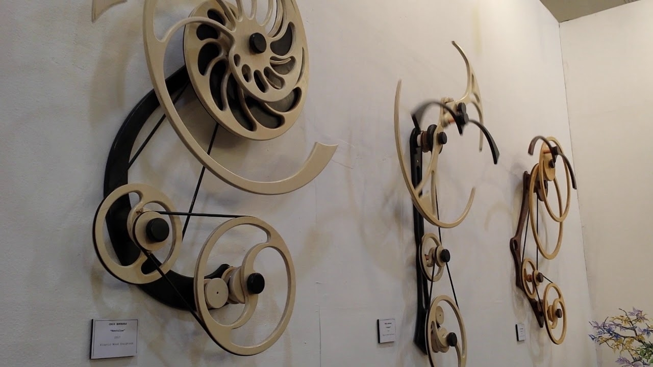 Kinetic Wood Sculpture, Moving Art   Youtube Within Kinetic Wall Art (Photo 2 of 20)