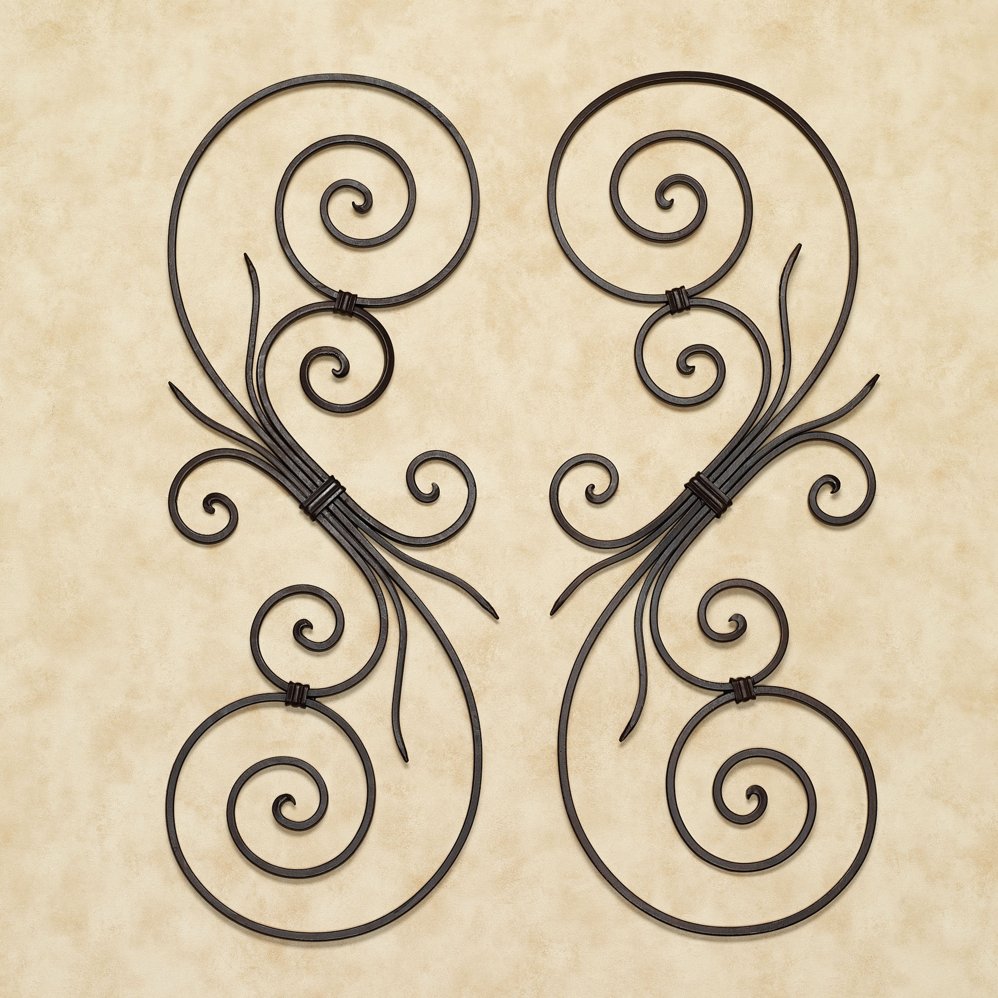 Kirklands Iron Wall Decor Art Design Ideas Yellow La Wrought Scroll with Metal Scroll Wall Art (Image 8 of 20)