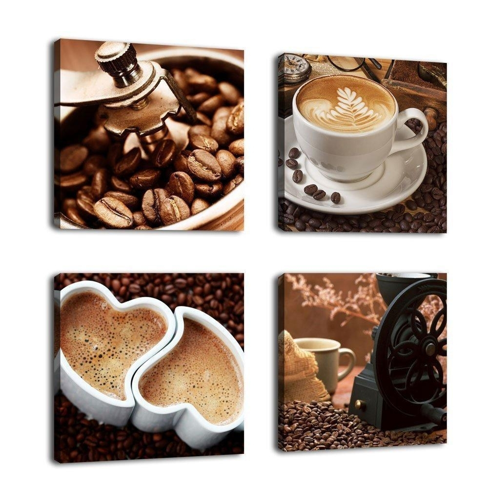 Kitchen Coffee Wall Art Picture Print Canvas Framed Home Hang Decor With Regard To Kitchen Canvas Wall Art Decors (View 15 of 20)
