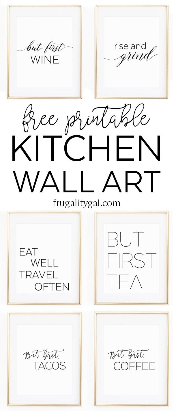 Kitchen Gallery Wall Printables | Free Printable Wall Art Within Free Printable Wall Art Decors (Photo 1 of 20)