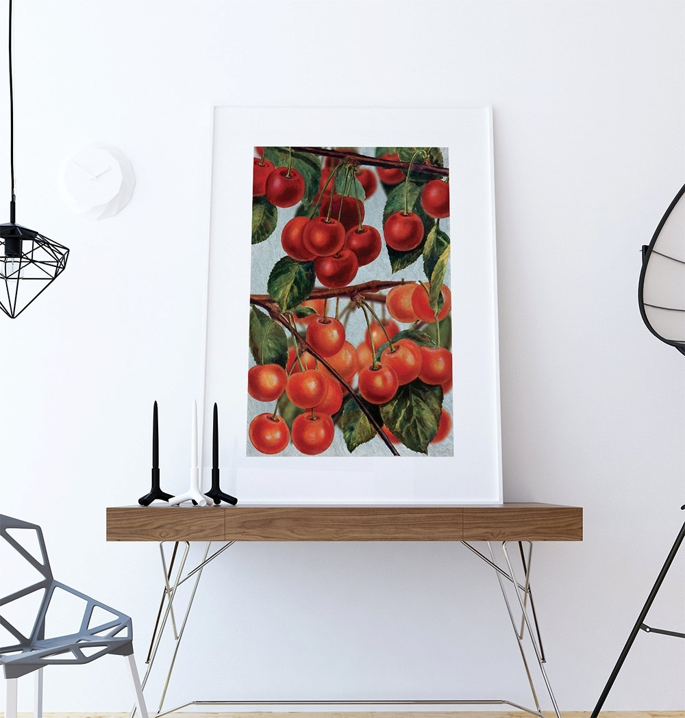 Kitchen Wall Art Cherries Print Kitchen Print Food Photograph Fruit For Wall Art For Kitchen (Photo 15 of 20)
