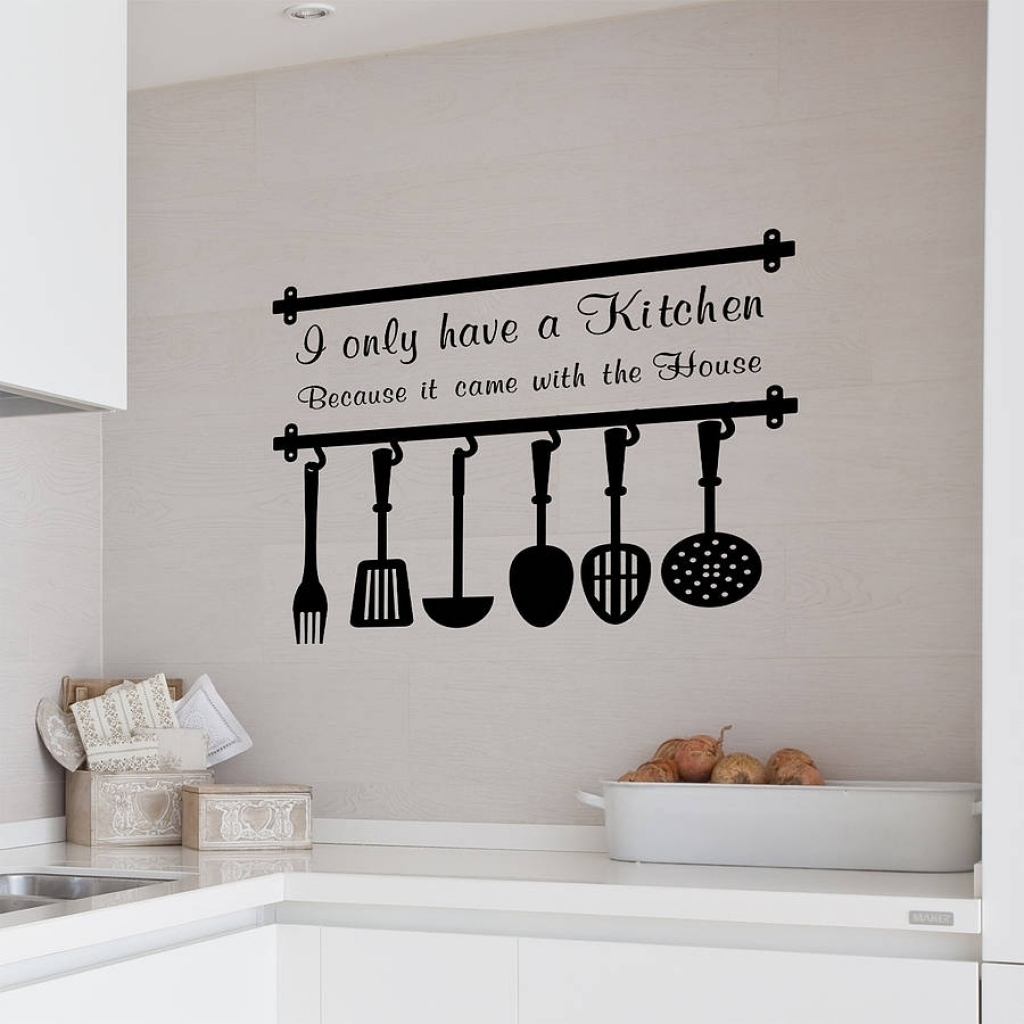 Kitchen Wall Decor Sayings Vinyl For Quotes Decals On Family Words With Regard To Wall Art Sayings (Photo 18 of 20)