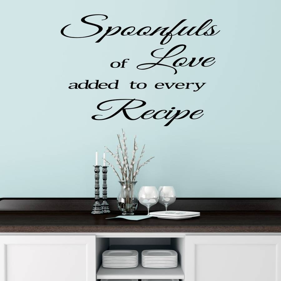 Kitchen Wall Sticker Quotemirrorin | Notonthehighstreet In Quote Wall Art (Photo 6 of 20)