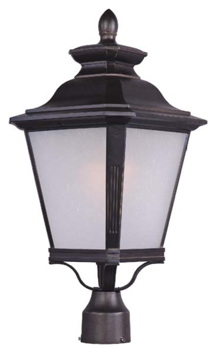 Knoxville 1-Light Outdoor Pole/post Lantern - 1121Fsbz | Warehouse pertaining to Outdoor Post Lanterns (Image 7 of 20)