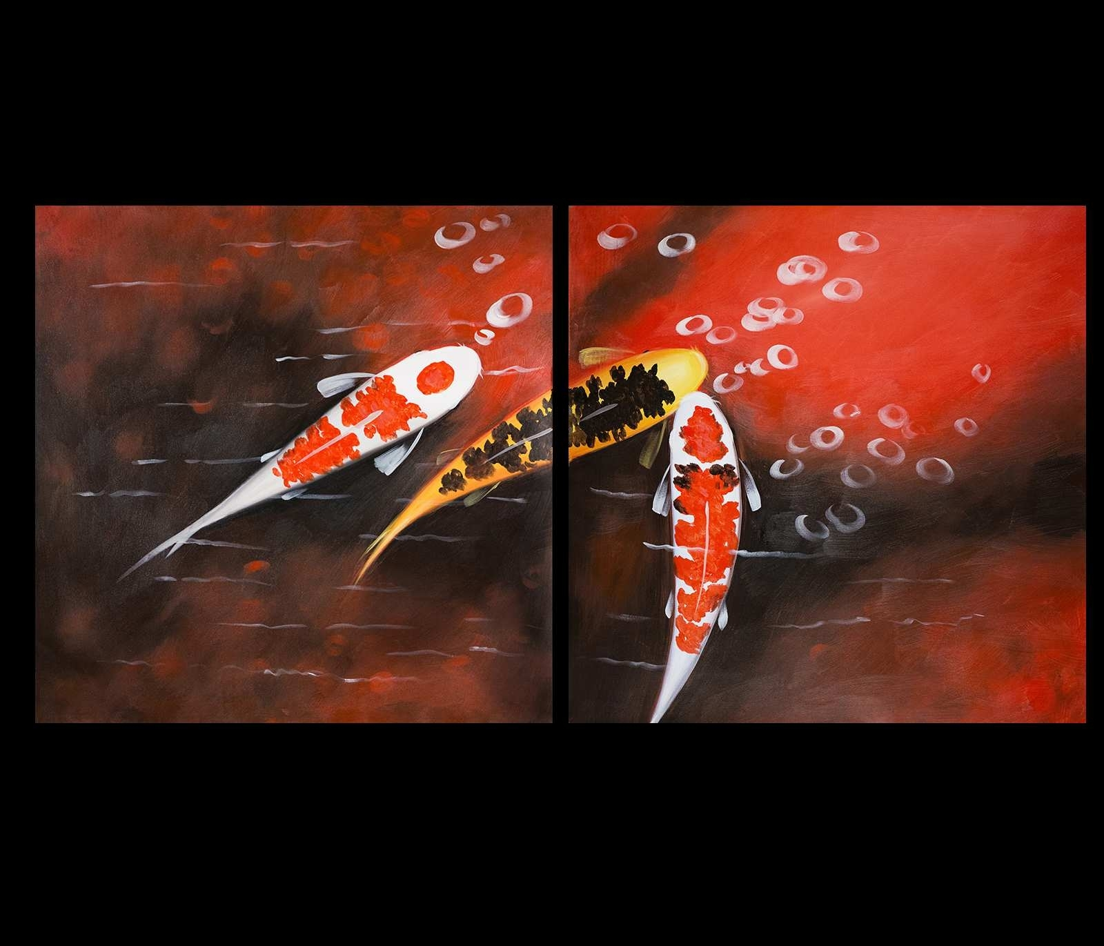 Koi Fish Paintings On Canvas Unique Koi Fish Wall Art Contemporary Intended For Fish Painting Wall Art (Photo 12 of 20)