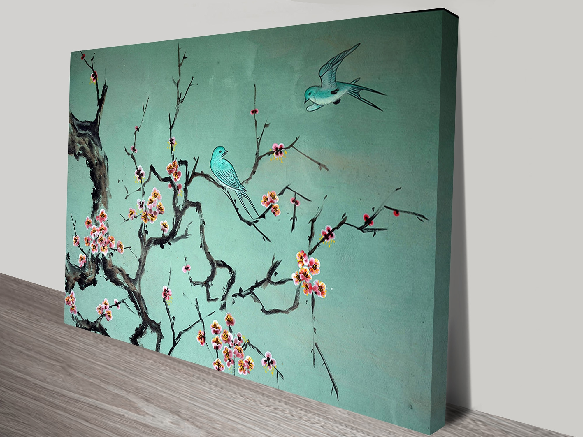 Korean Traditional Art Of Birds And A Tree Branch Within Traditional Wall Art (Gallery 1 of 20)