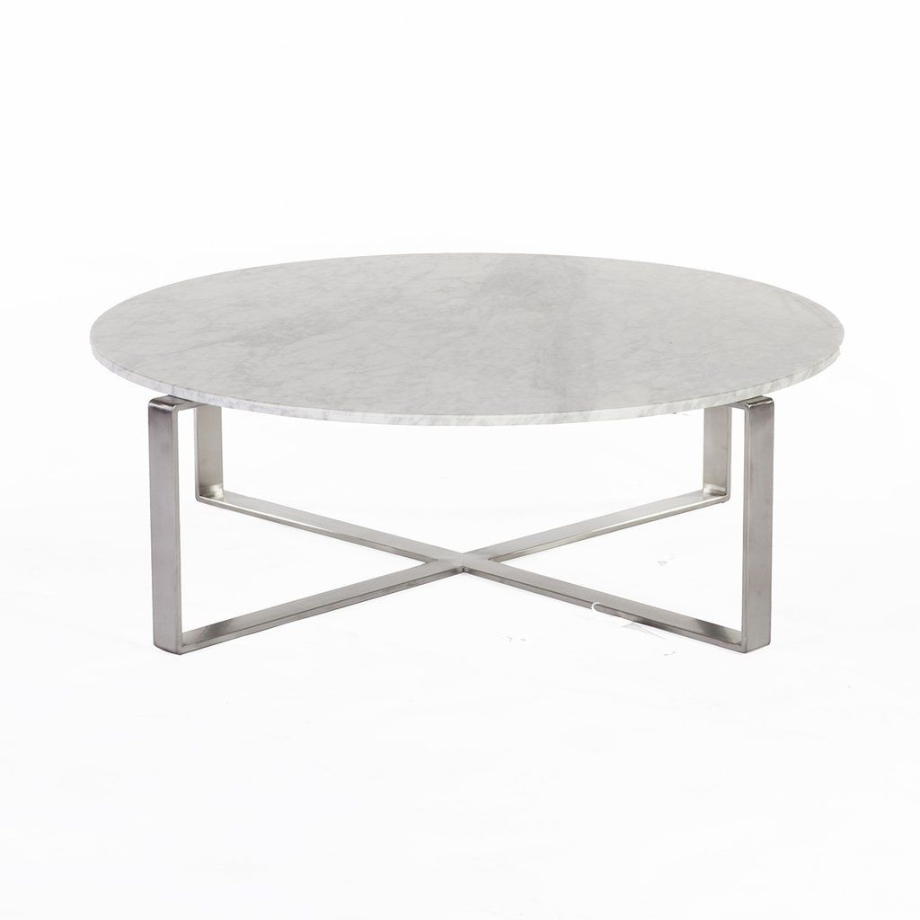 Krydse Marble Coffee Table | Marbles, Coffee And Modern Throughout Smart Round Marble Brass Coffee Tables (View 17 of 30)