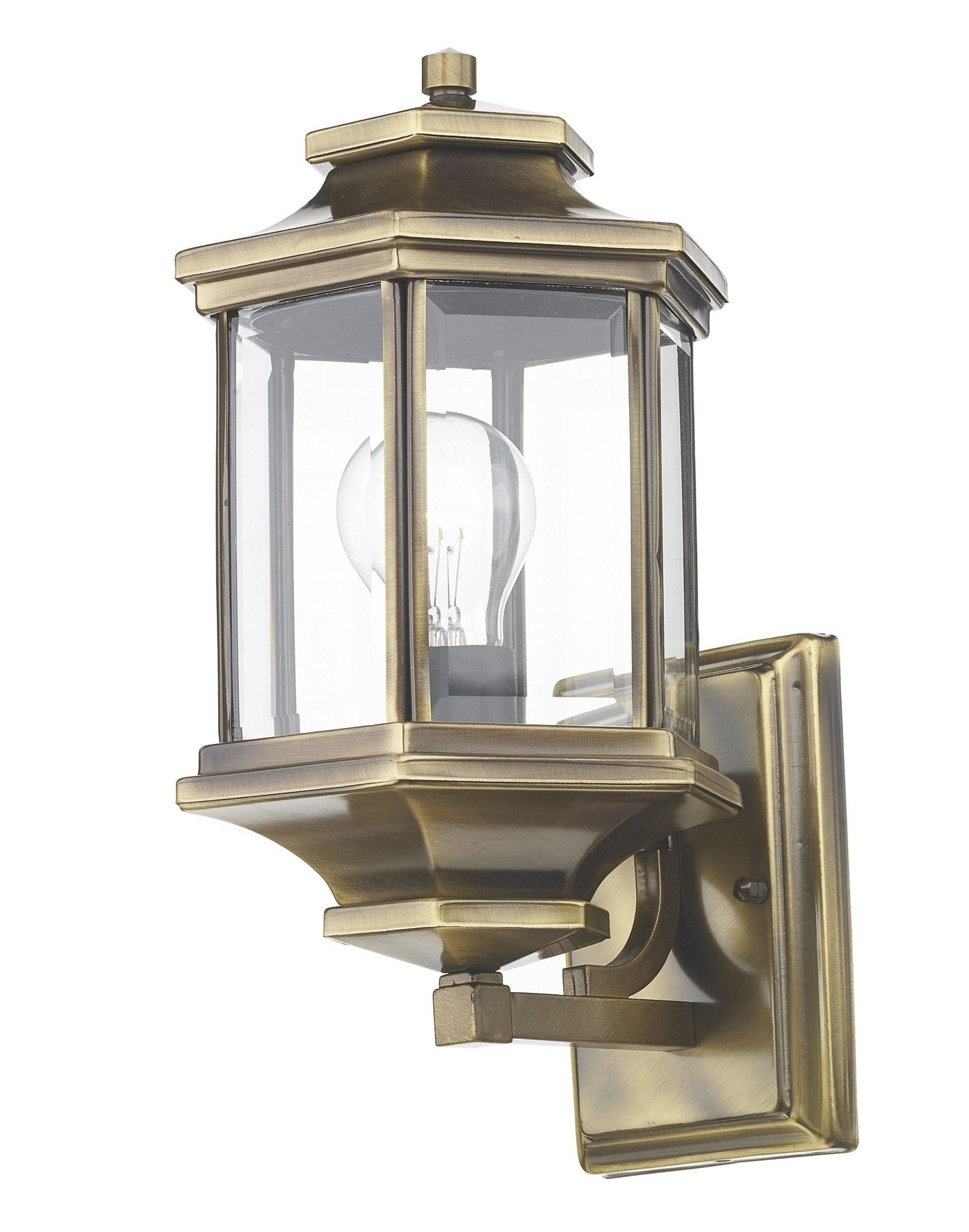 Ladbroke Lantern Antique Brass Complete With Bevelled Glass | Dar pertaining to Vaughan Outdoor Lanterns (Image 10 of 20)