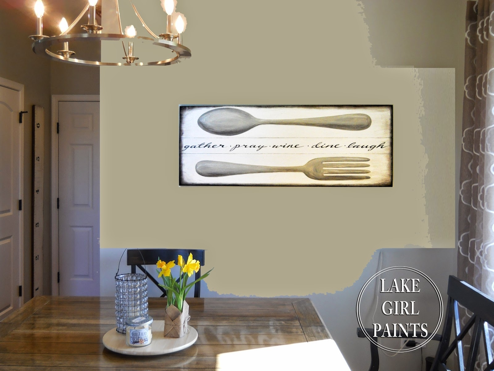 Lake Girl Paints: Making Dining Room Wall Art Within Dining Room Wall Art (View 13 of 20)