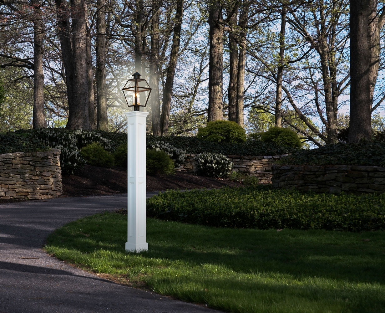 Lamp Posts & Lanterns | Royal Crowne in Outdoor Vinyl Lanterns (Image 9 of 20)