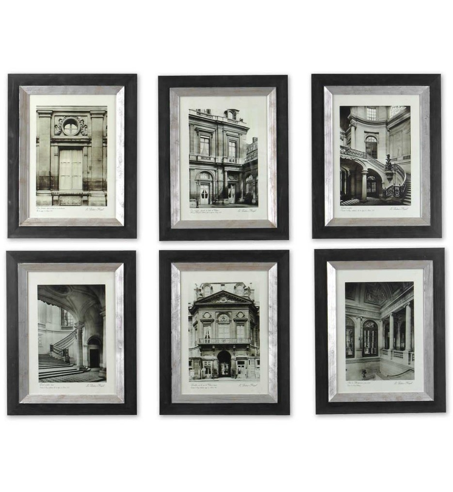 Lamps: Uttermost - 33430 - Paris Scene Framed Art (Set Of 6) in Uttermost Wall Art (Image 7 of 20)