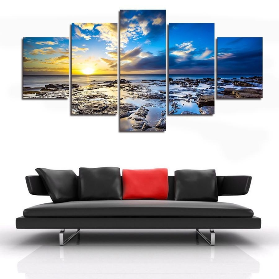 Landscape | 5 Panel Wall Art Canvas Prints within 5 Panel Wall Art (Image 13 of 20)