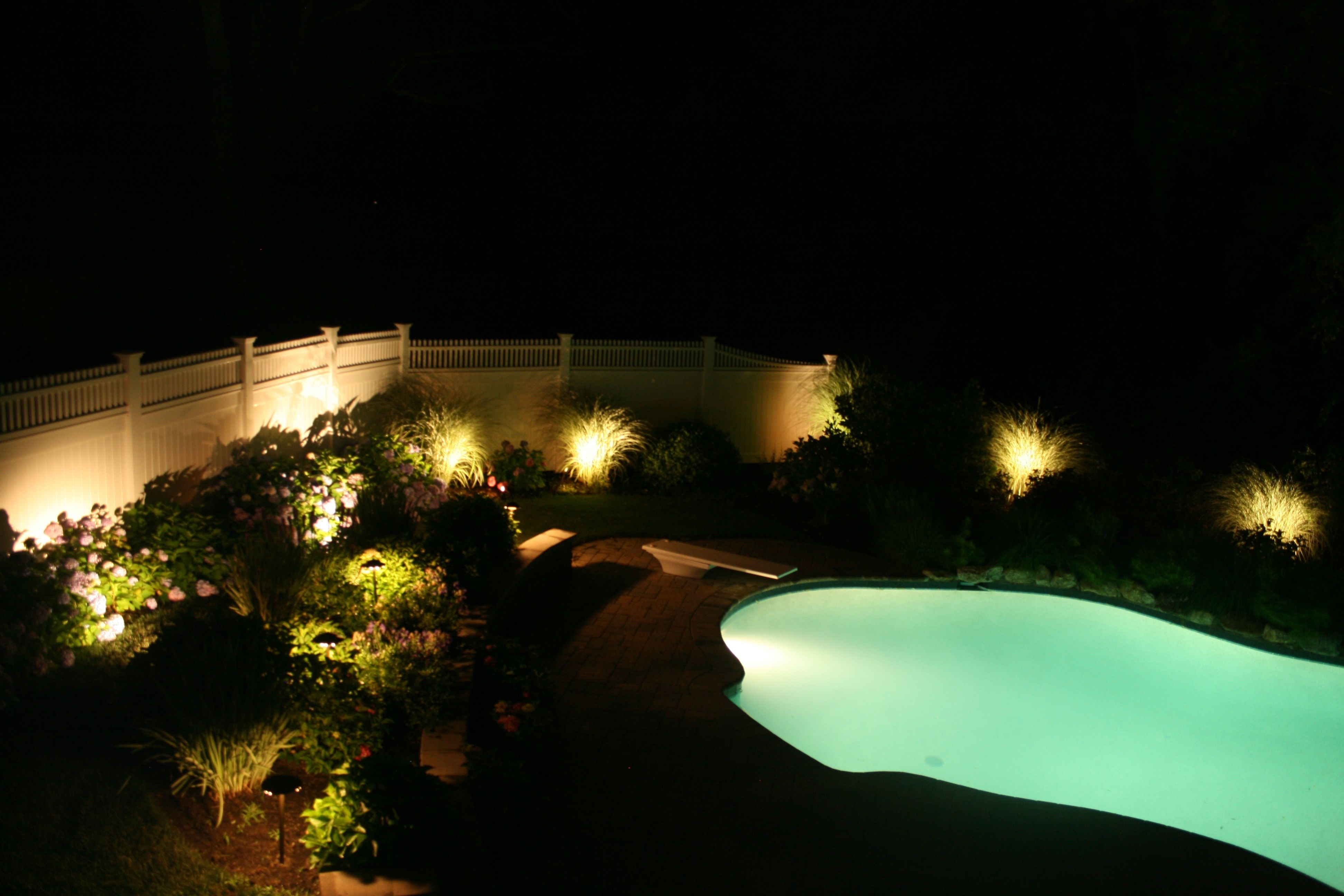 Landscape Lighting Around Pool | Outdoors | Pinterest | Landscaping throughout Outdoor Lanterns For Poolside (Image 8 of 20)