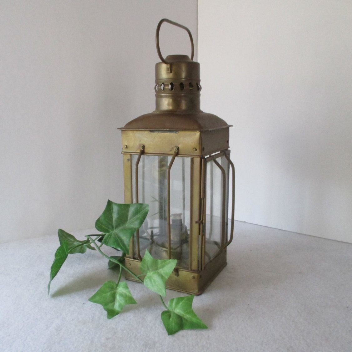 Lantern, Vintage Alcohol Or Candle Hurricane Lamp, Metal, Hanging In Outdoor Storm Lanterns (View 14 of 20)