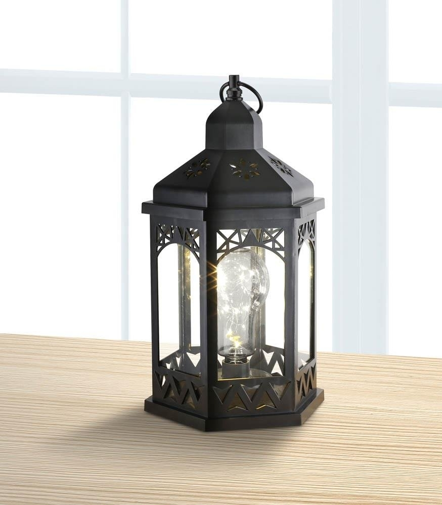 Lanterns Outdoor, Light Bulb Shimmer Hanging Metal Decorative regarding Cheap Outdoor Lanterns (Image 11 of 20)
