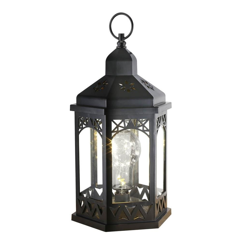 Lanterns Outdoor, Light Bulb Shimmer Hanging Metal Decorative regarding Outdoor Lanterns For Patio (Image 5 of 20)