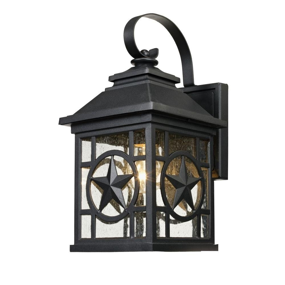 Laredo Texas Star Outdoor Black Medium Wall Lantern-1000-023-953 intended for Outdoor Rustic Lanterns (Image 11 of 20)