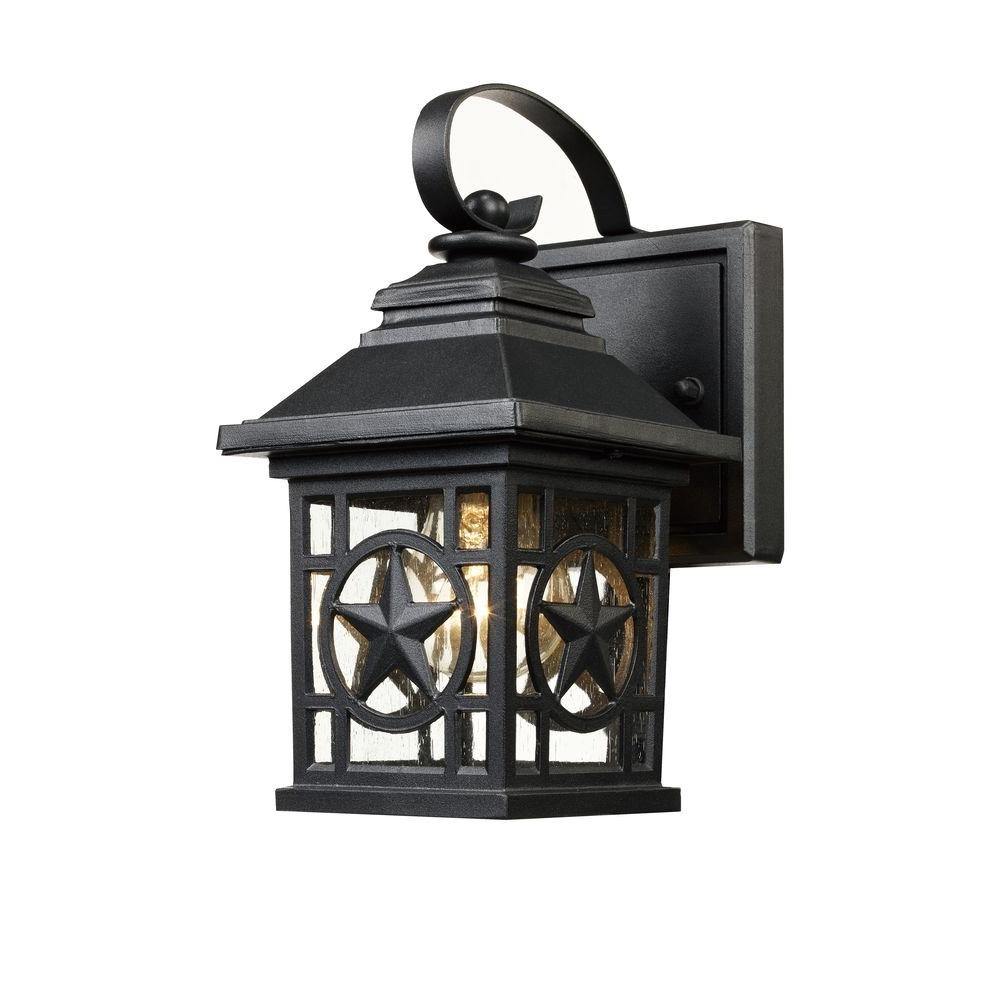 Laredo Texas Star Outdoor Black Wall Lantern Ou080419 5S – The Home Inside Outdoor Weather Resistant Lanterns (View 7 of 20)
