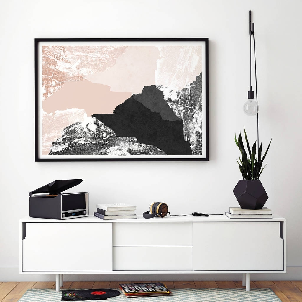 Large Abstract Wall Art Print Living Room Artbronagh Kennedy Throughout Wall Art For Living Room (View 17 of 20)