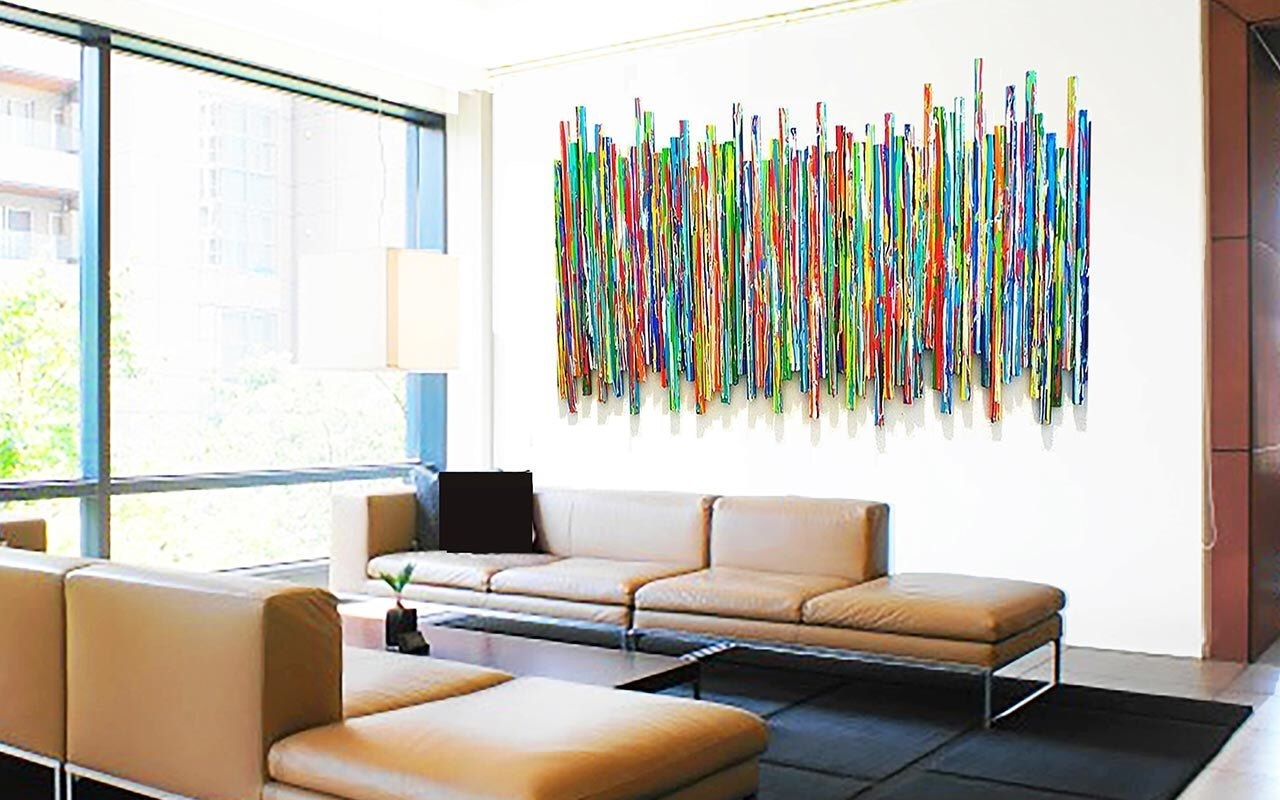 Large Abstract Wall Sculpture   Original Contemporary Wall Art Throughout Large Abstract Wall Art (View 2 of 20)