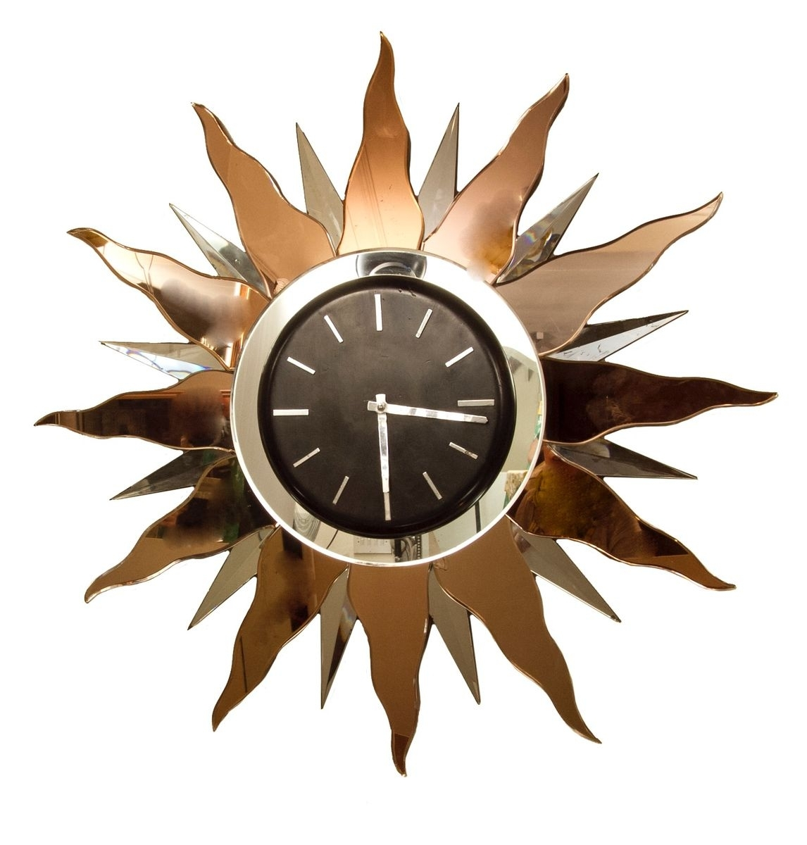 Large Art Deco Wall Clock, 1930S For Sale At Pamono regarding Art Deco Wall Clock (Image 14 of 20)