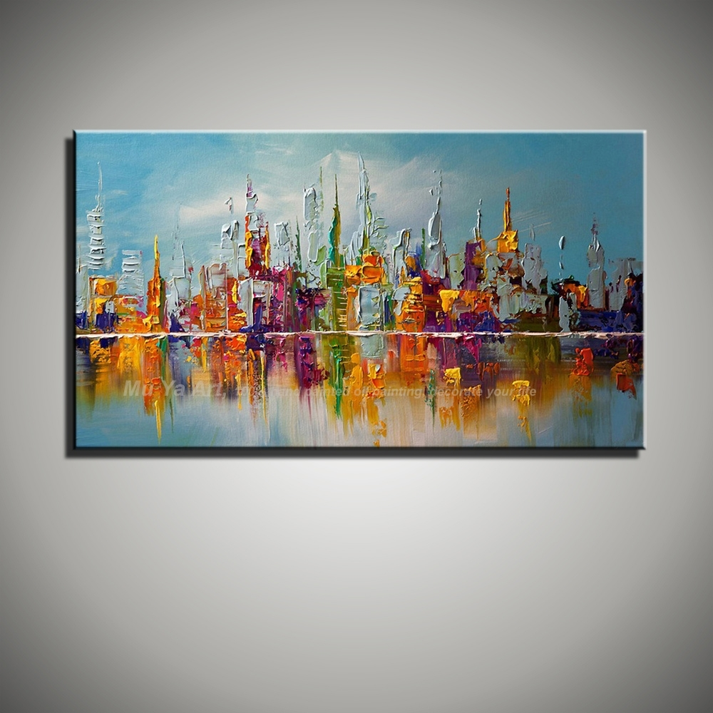 Large Canvas Wall Art Abstract Modern Decorative Pictures New York for Modern Large Canvas Wall Art (Image 19 of 20)