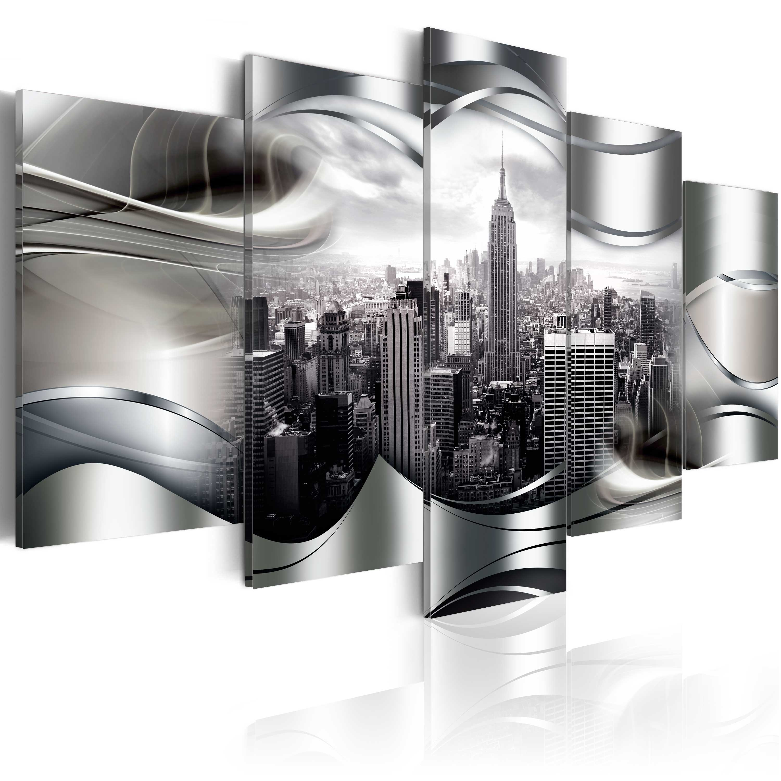 Large Canvas Wall Art Print + Image + Picture + Photo New York D A Within New York Canvas Wall Art (View 5 of 20)