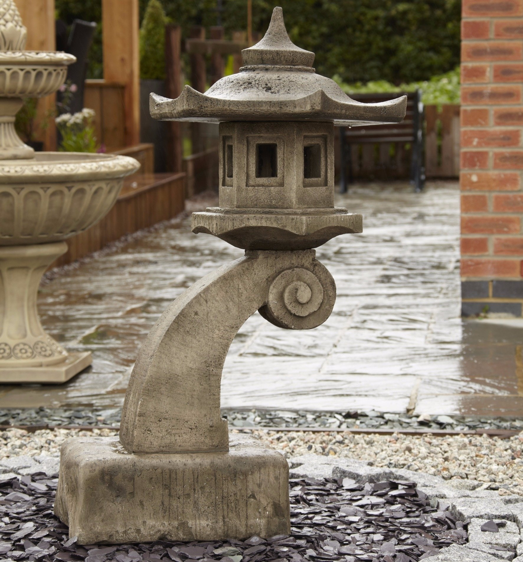 Large Curved Bali Oriental Garden Lantern - Gardensite.co.uk with Outdoor Japanese Lanterns for Sale (Image 16 of 20)