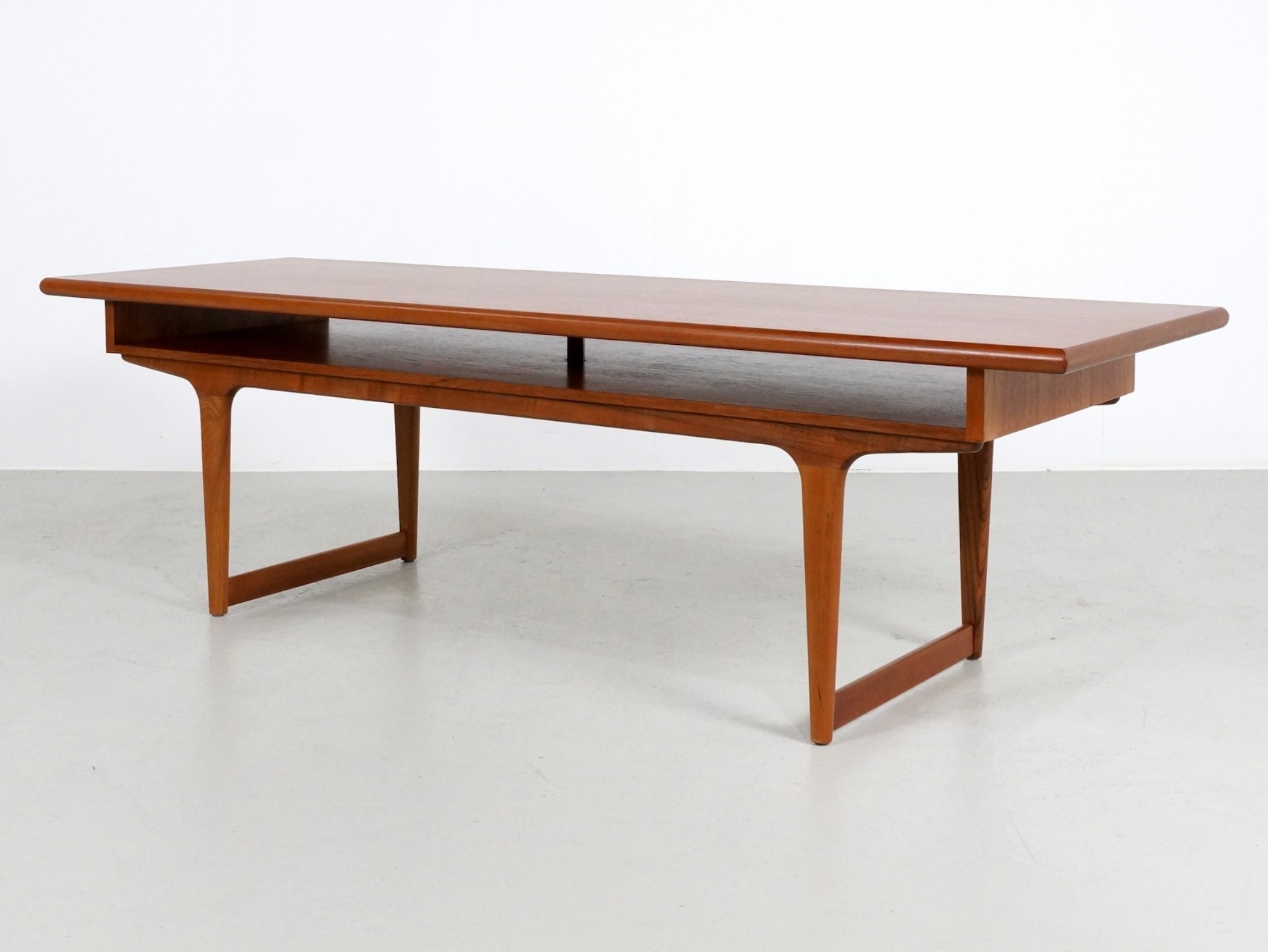 Large Danish Coffee Table In Teak Wood - 1960S - Design Market inside Large Teak Coffee Tables (Image 8 of 30)