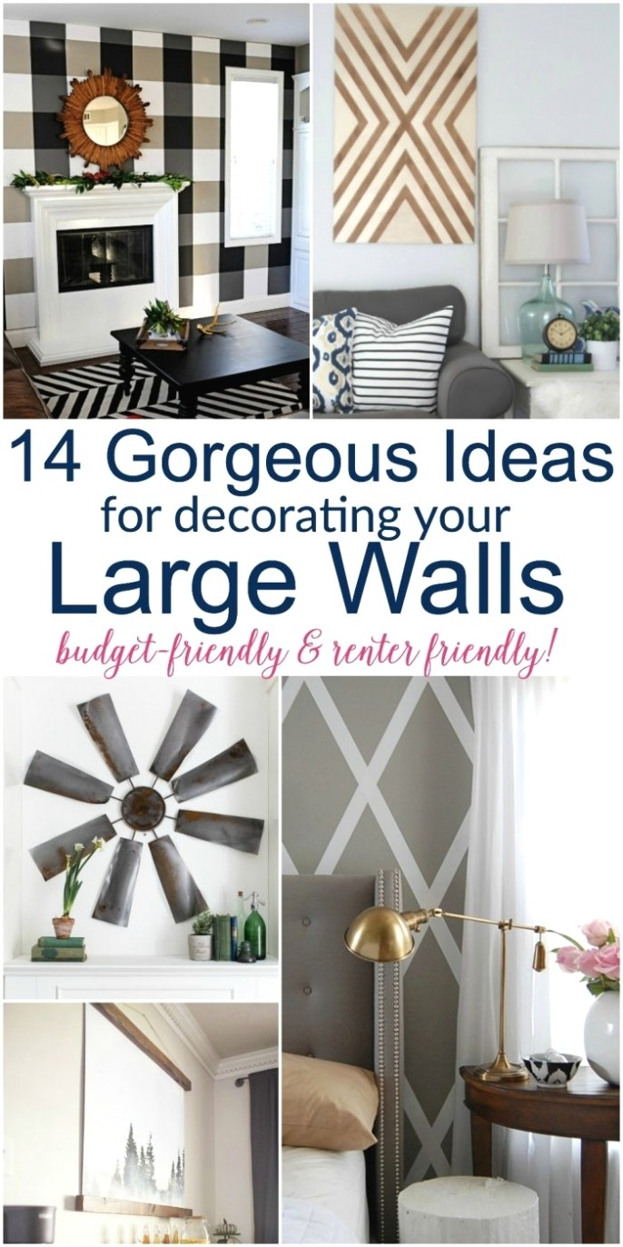 Large Diy Wall Decor Ideas Lots Of Renter Friendly Options Too regarding Cheap Large Wall Art (Image 17 of 20)