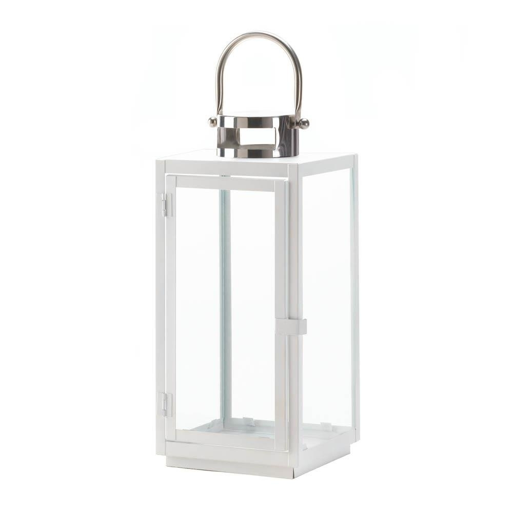 Large Lantern Lights, White Decorative Hanging Outdoor Pillar Candle with regard to Outdoor Lanterns Decors (Image 10 of 20)