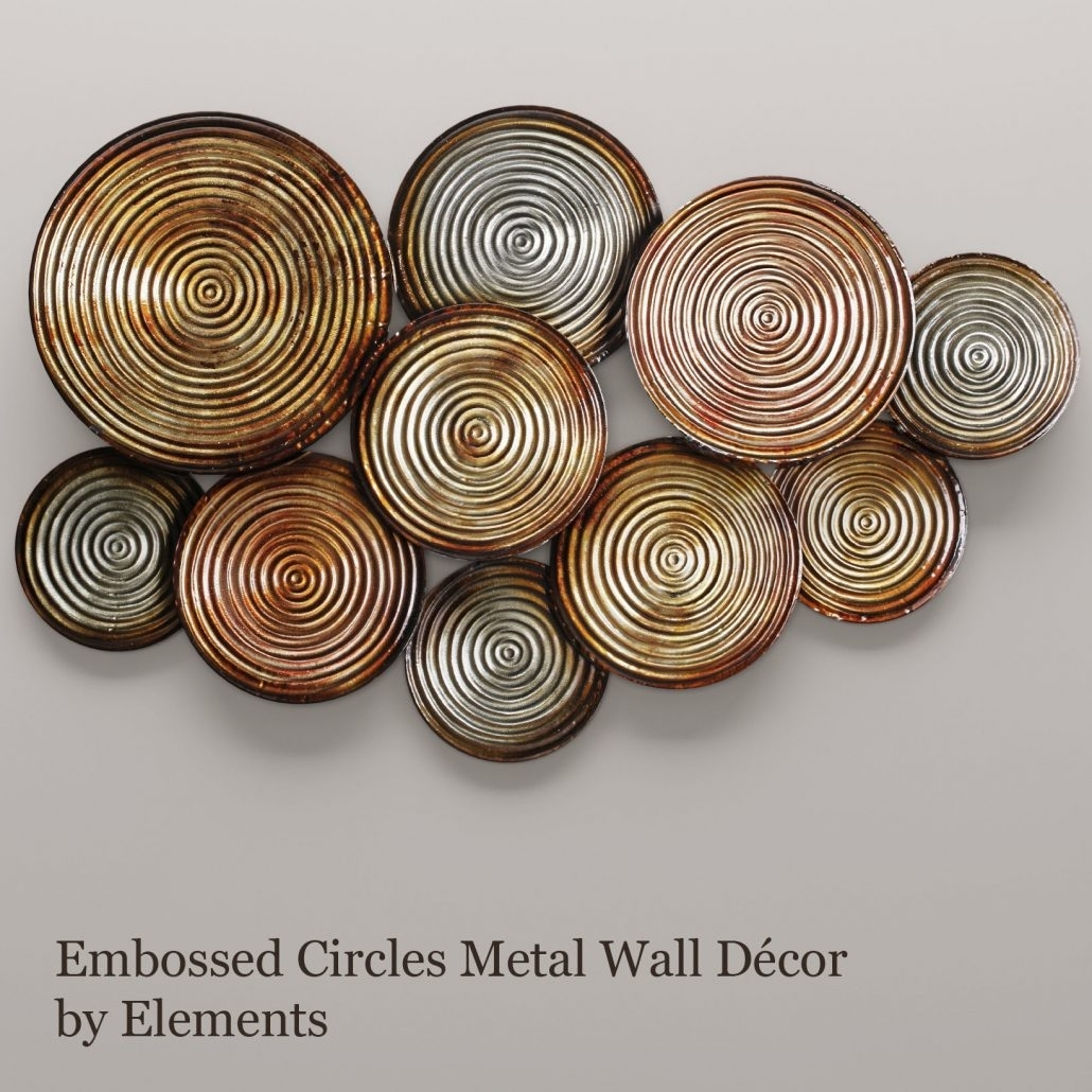 Large Metal Circle Wall Art Colors Tuscan Bronze Connecting Decor In Circle Wall Art (View 16 of 20)