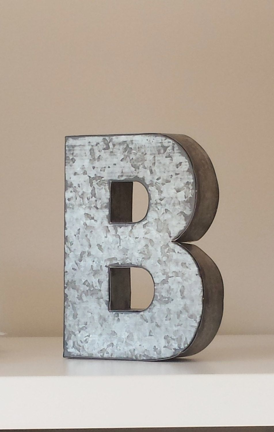 Large Metal Letter Zinc Steel Initial Homedesignsbyembellish with Metal Letter Wall Art (Image 11 of 20)
