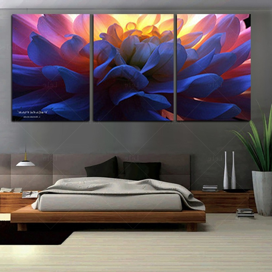 Large Paintings For Cheap Oversized Wall Art 3 Piece Canvas Art Diy Intended For Cheap Oversized Canvas Wall Art (View 13 of 20)