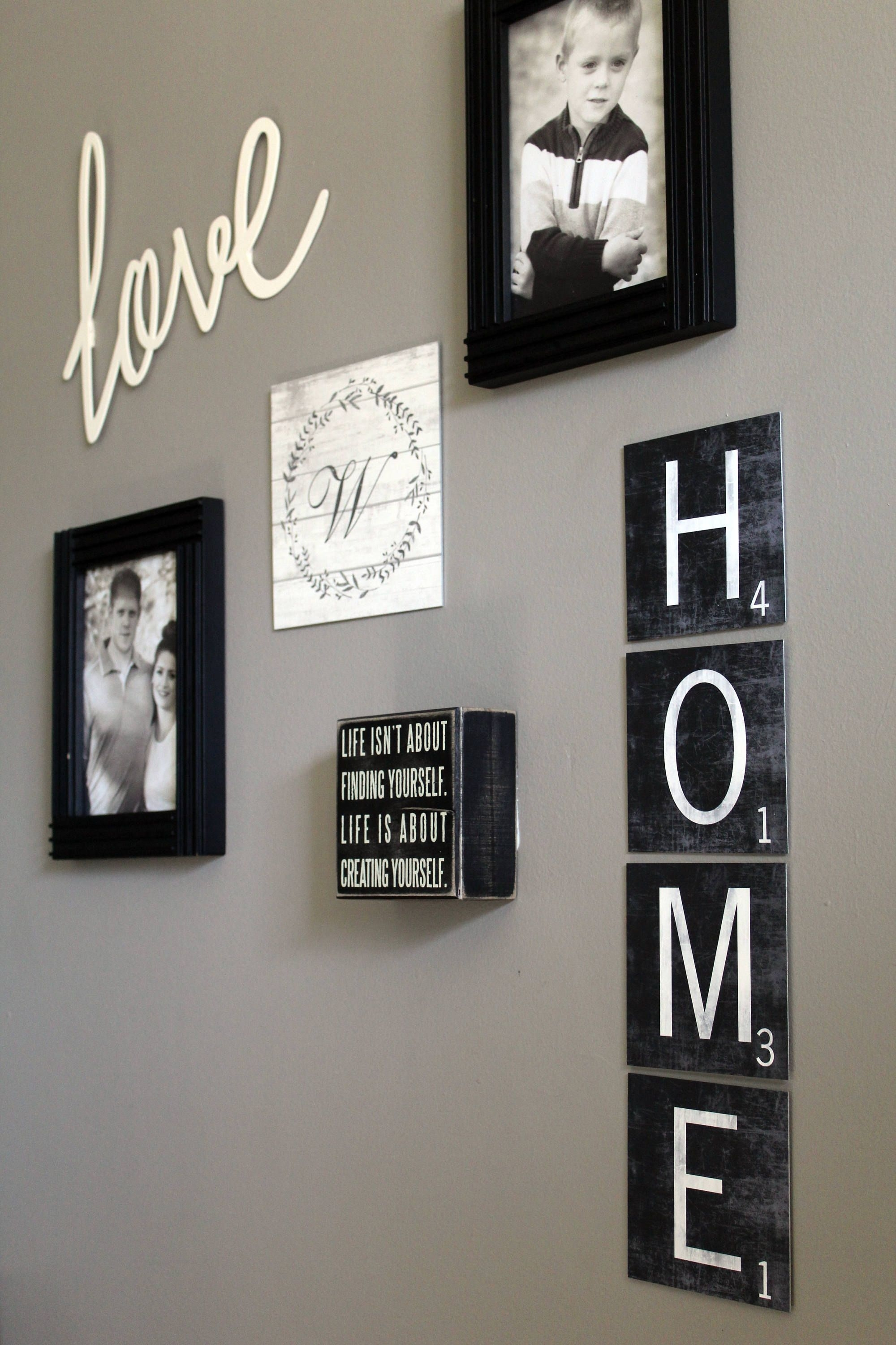 Large Scrabble Tiles – Scrabble Wall Art – Metal Scrabble Wall Tiles In Scrabble Wall Art (View 9 of 20)