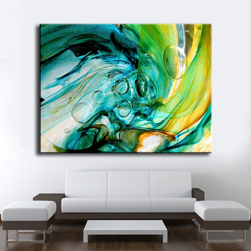 Large Size Print Oil Painting Wall Painting Glass Blowing Art Home in Glass Wall Art (Image 13 of 20)