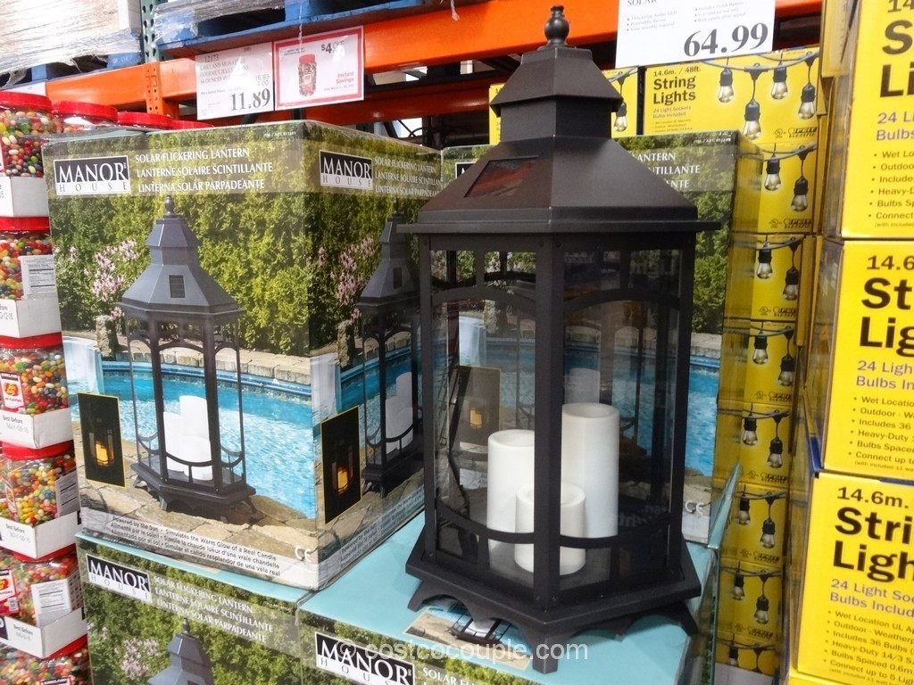 Large Solar Lantern Cool Outdoor Lanterns Costco Garden Lights Patio Within Outdoor Lanterns At Costco (View 13 of 20)