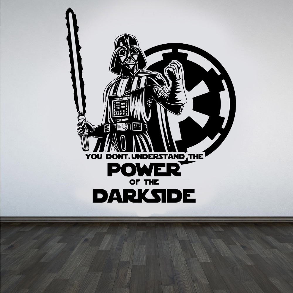 Large Star Wars Darth Vader Vinyl Wall Art Sticker Room Bedroom with regard to Darth Vader Wall Art (Image 13 of 20)