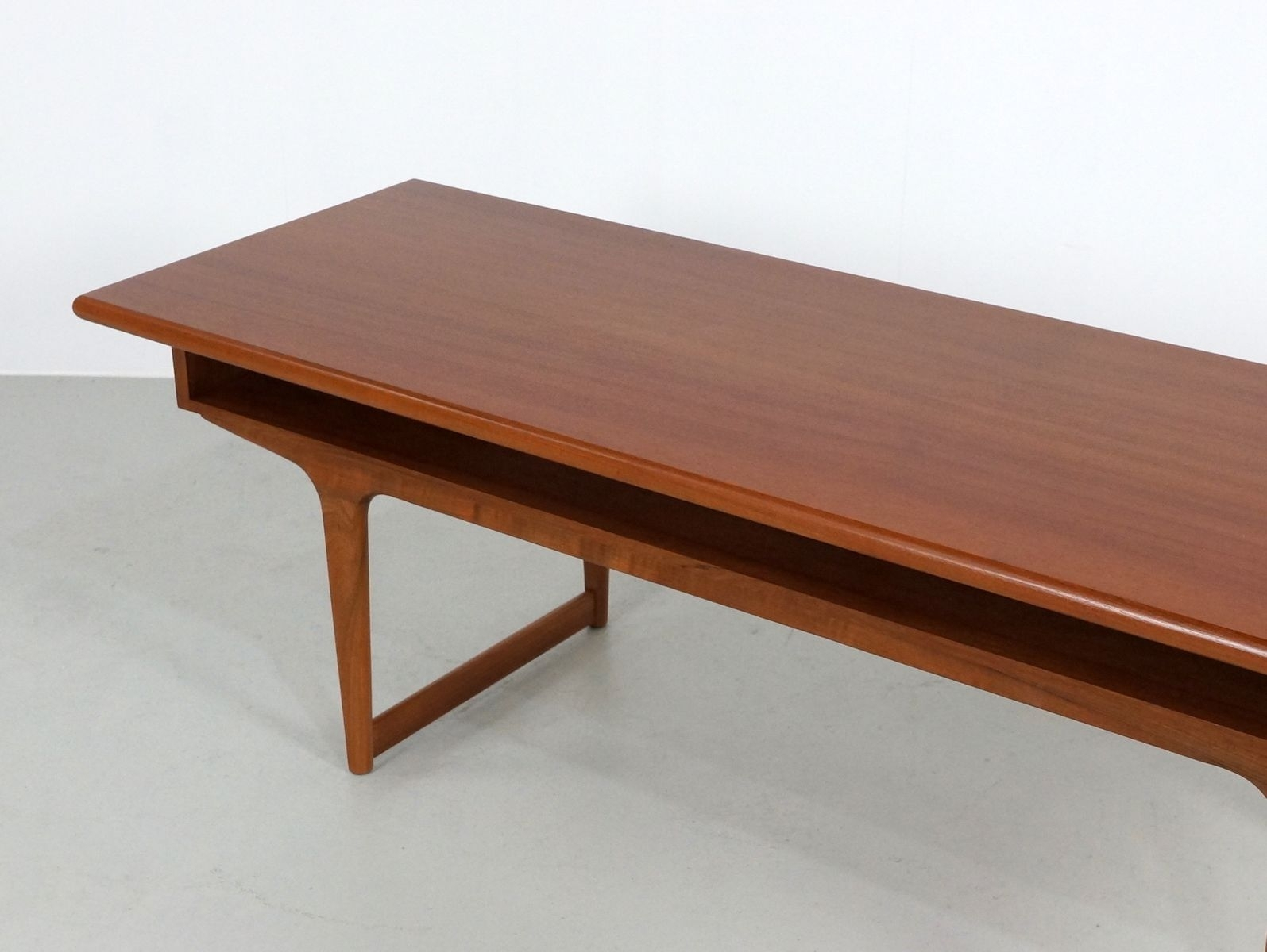 Large Teak Danish Coffee Table, 1960S For Sale At Pamono intended for Large Teak Coffee Tables (Image 17 of 30)