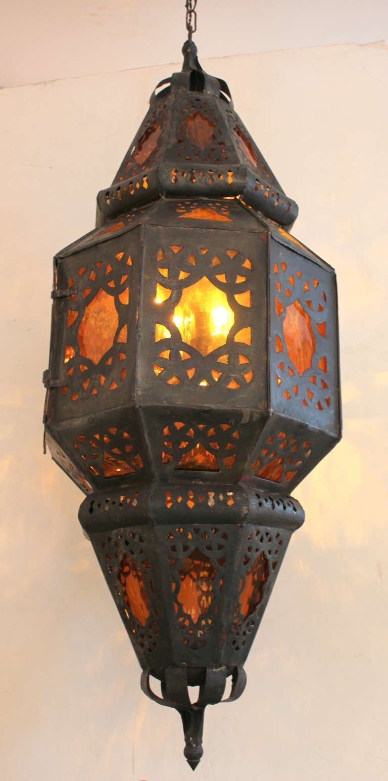 Large Vintage Mexican Lantern For Sale At 1Stdibs in Outdoor Mexican Lanterns (Image 8 of 20)