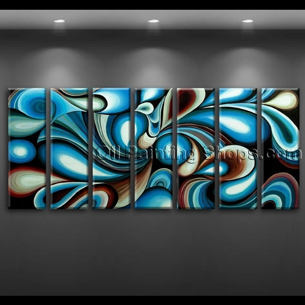 Large Wall Art Colorful Abstract Oil Painting On Canvas Modern inside Modern Framed Wall Art Canvas (Image 13 of 20)