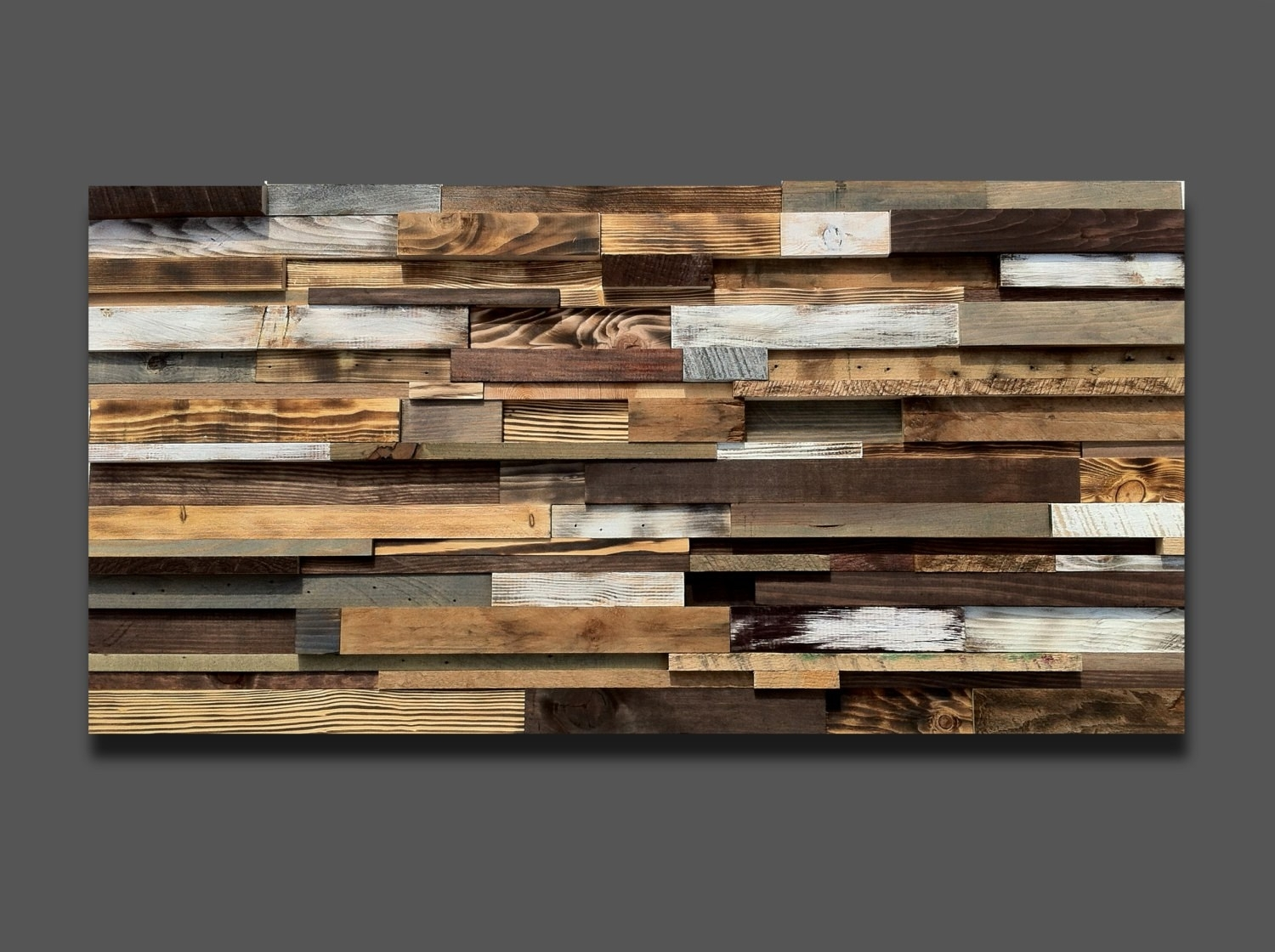 Large Wood Art *free Shipping* Reclaimed Wood Wall Art, Rustic throughout Large Rustic Wall Art (Image 15 of 20)