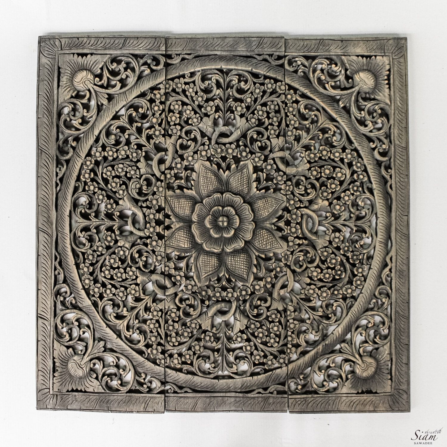 Large Wood Carved Wall Art Panel (View 15 of 20)