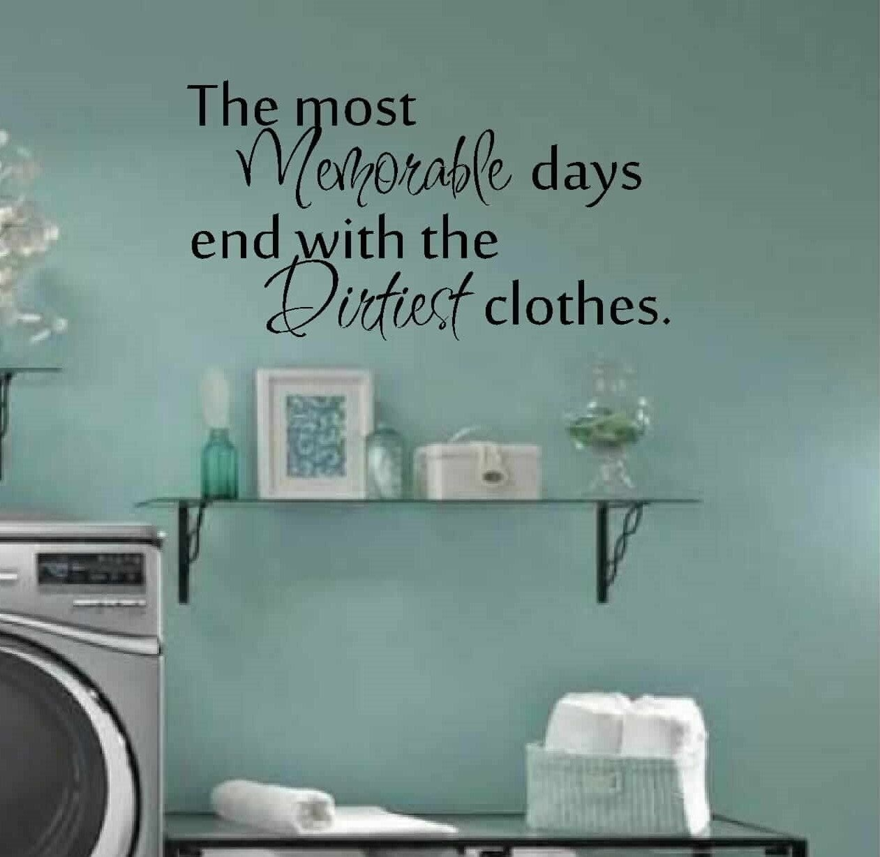 Laundry Room Decor Wall Art Matt Vinyl Decalvinylwallquotes Inside Laundry Room Wall Art (View 12 of 20)