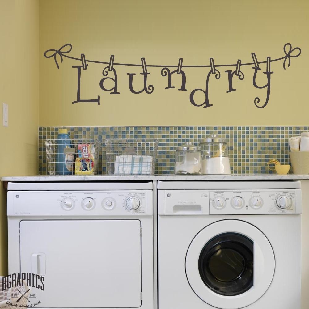 Laundry Room Washing Line Wall Art – Bgraphics With Laundry Room Wall Art (View 9 of 20)