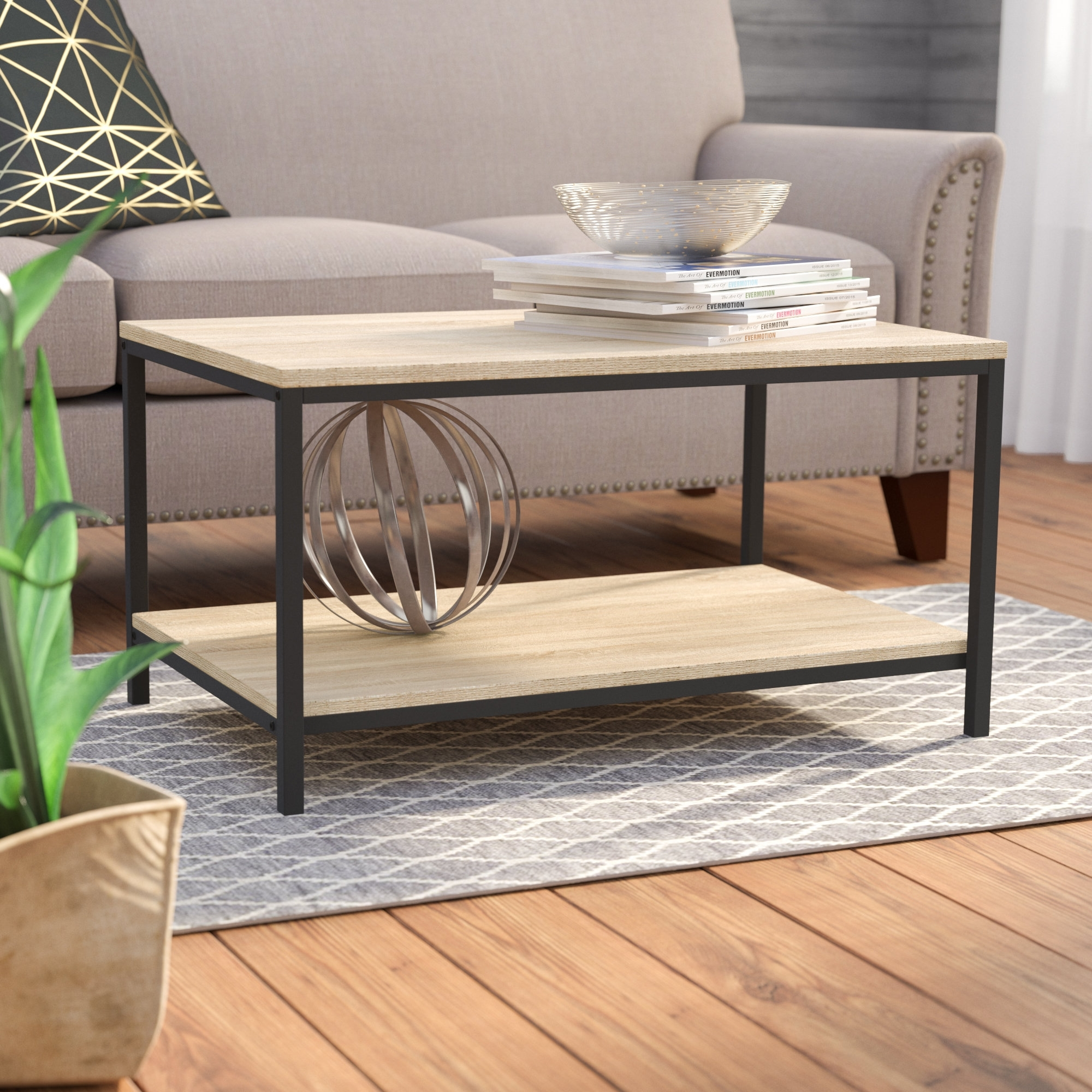 Laurel Foundry Modern Farmhouse Ermont Coffee Table & Reviews | Wayfair with Large-Scale Chinese Farmhouse Coffee Tables (Image 17 of 30)
