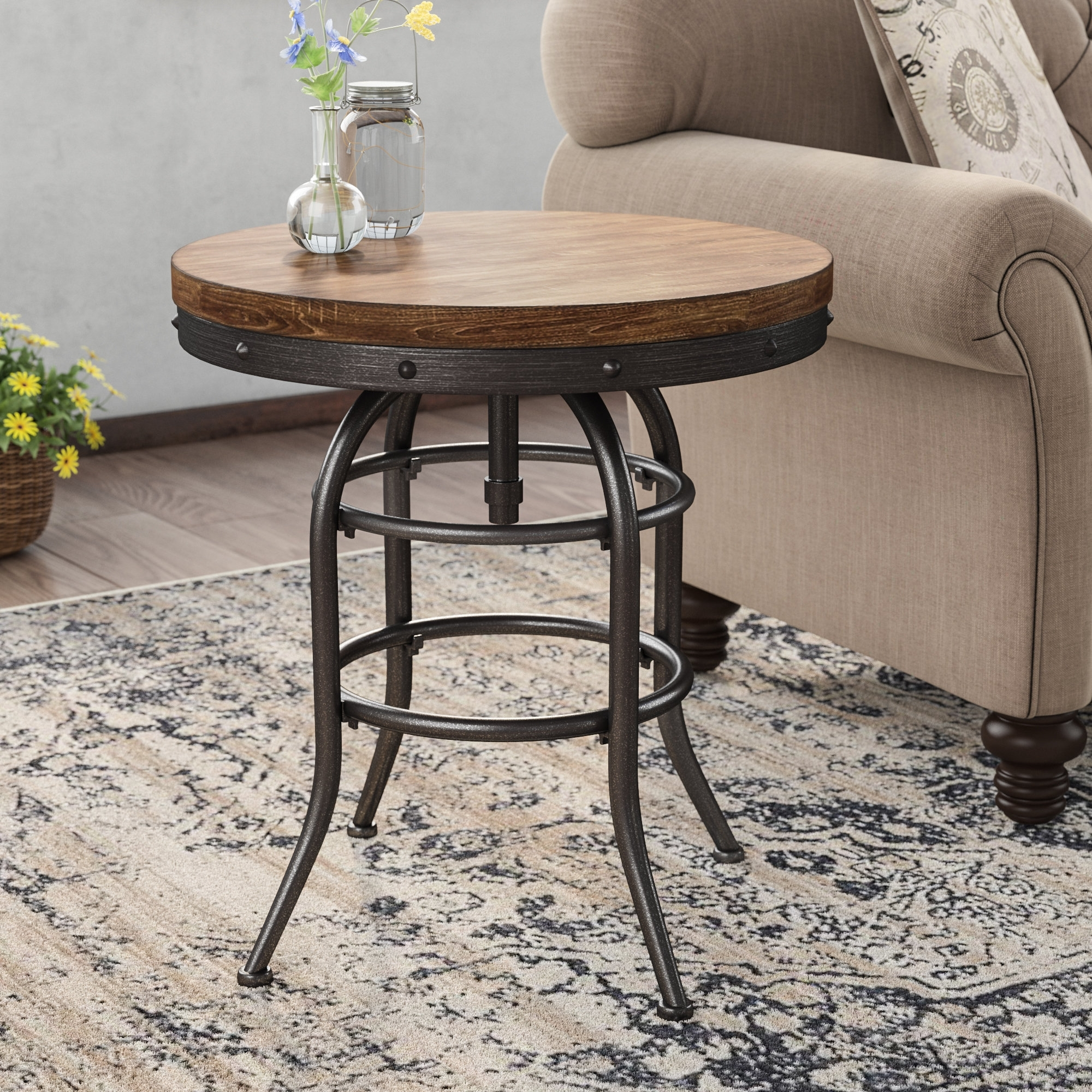 Laurel Foundry Modern Farmhouse Likens End Table & Reviews | Wayfair throughout Large-Scale Chinese Farmhouse Coffee Tables (Image 18 of 30)