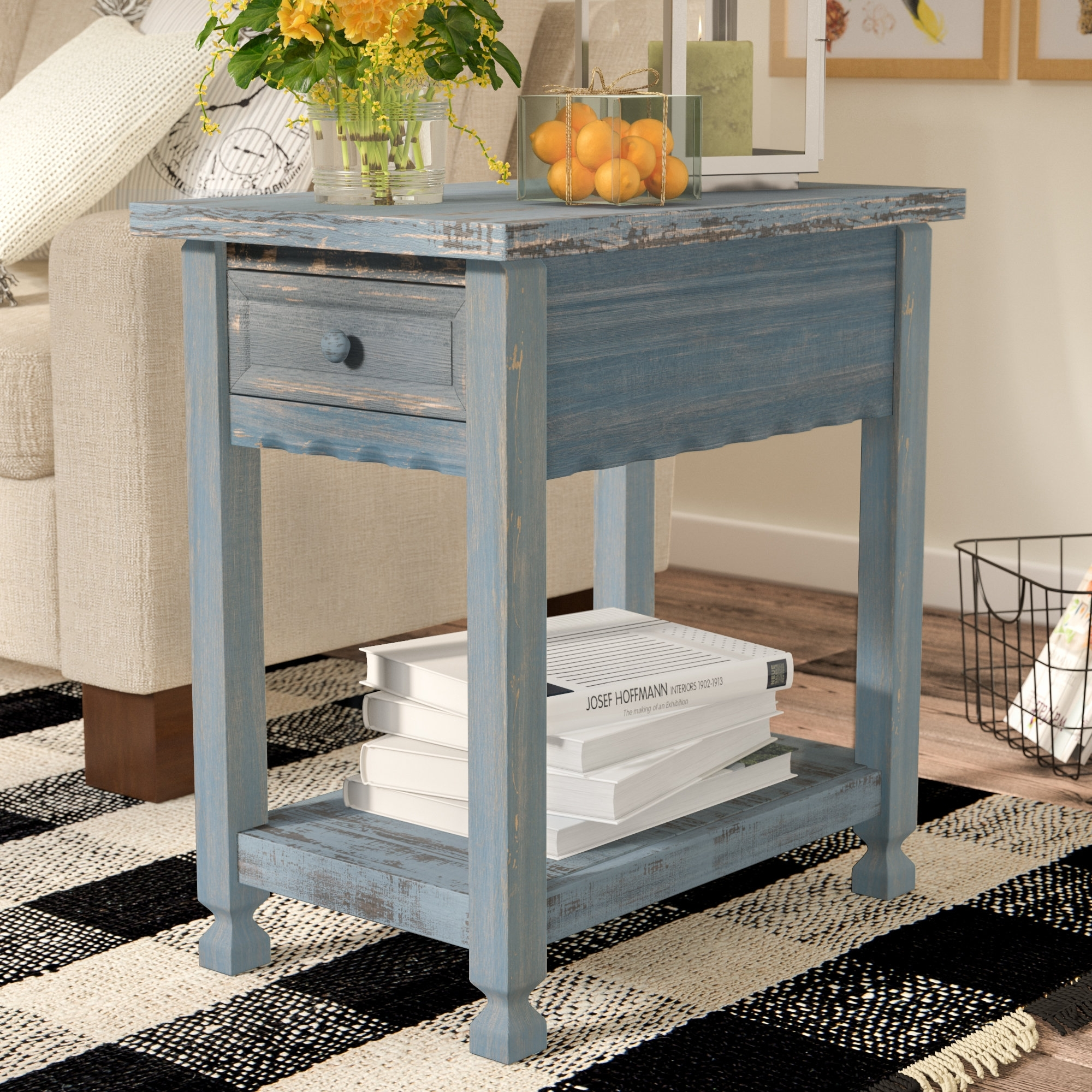 Laurel Foundry Modern Farmhouse Mangum End Table & Reviews | Wayfair for Large-Scale Chinese Farmhouse Coffee Tables (Image 19 of 30)